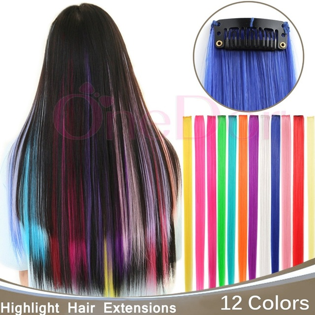 2310pcs Single Color Hairpiece Straight Synthetic Hair Extension
