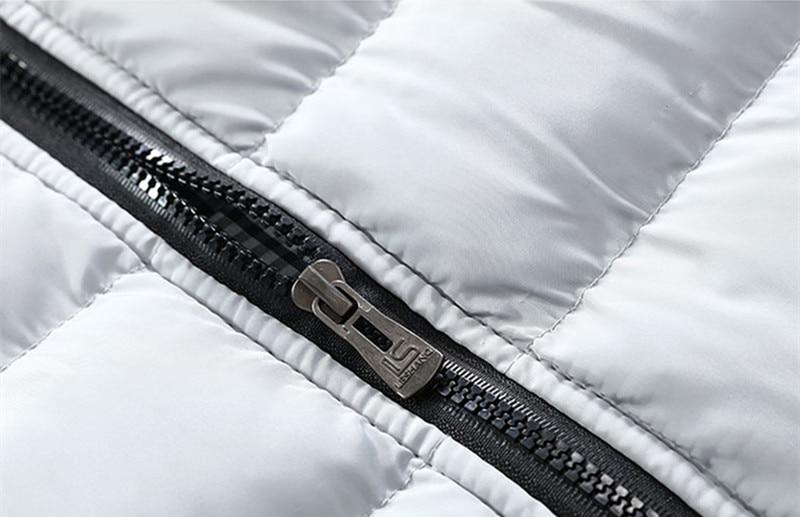 Mens Jacket Sleeveless Vest Winter Fashion Casual Slim Coats Brand Clothing Cotton-padded Men Vest Men Waistcoat Big Size Nz691 #5
