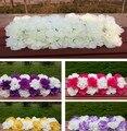 2019 Pilar porta Do Arco flor decoração do casamento partido Palco pano de fundo flor Chumbo Estrada longa mesa flores da peça central da decoração