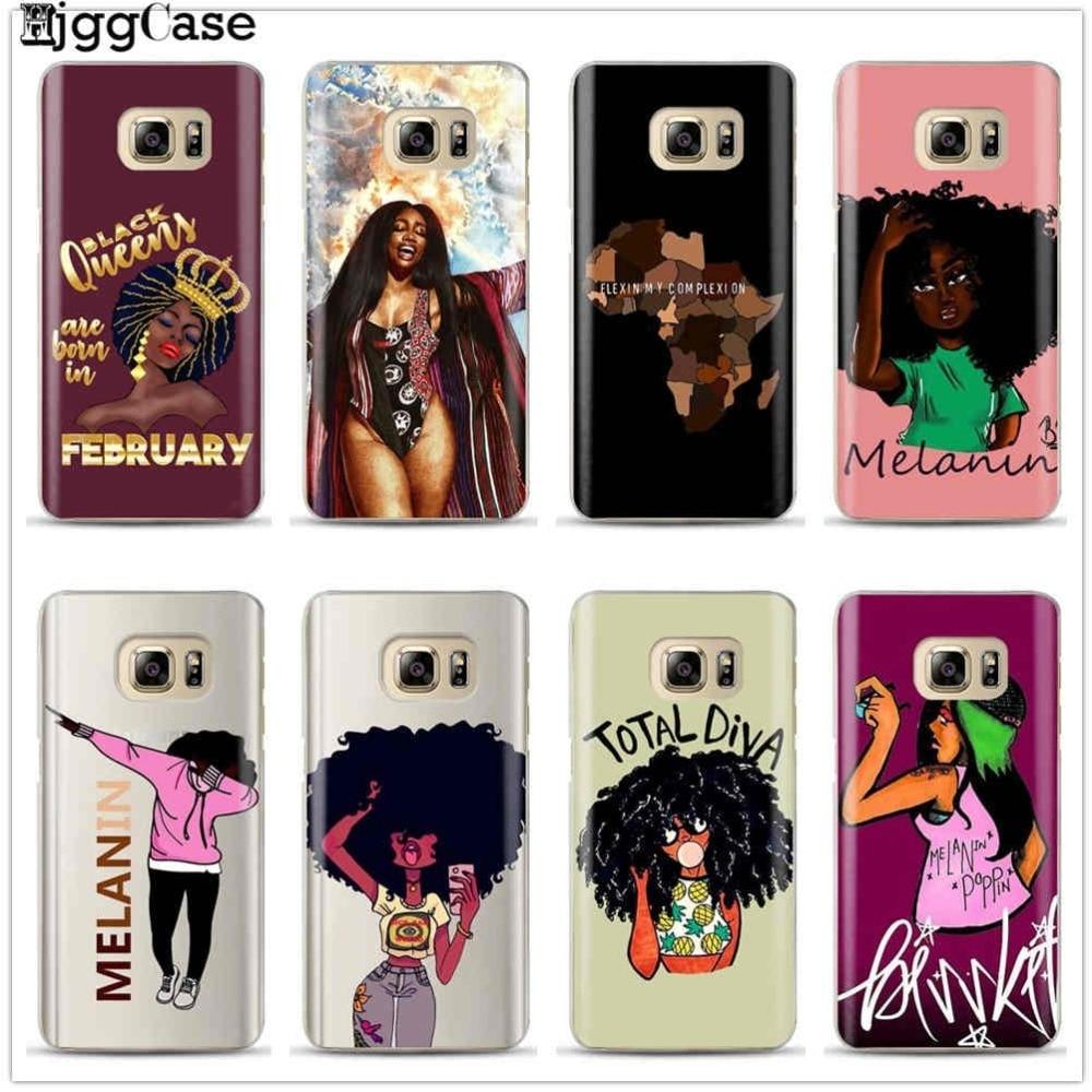 Black Girl Magic Melanin Poppin Queen Case For Samsung Galaxy S6 S7
