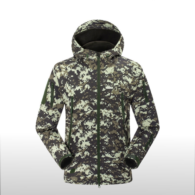 US Army Military TAD Shark Skin Waterproof Jacket Men Sport Clothes Softshell Hike Hunting Tactical Hoodie Jacket