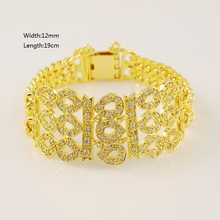 Fashion Vintage Luxury 24K Gold Plating Bracelet for Noble Yellow Gold Color Bracelets for Women Ladies Graceful Jewelry Gifts цена и фото