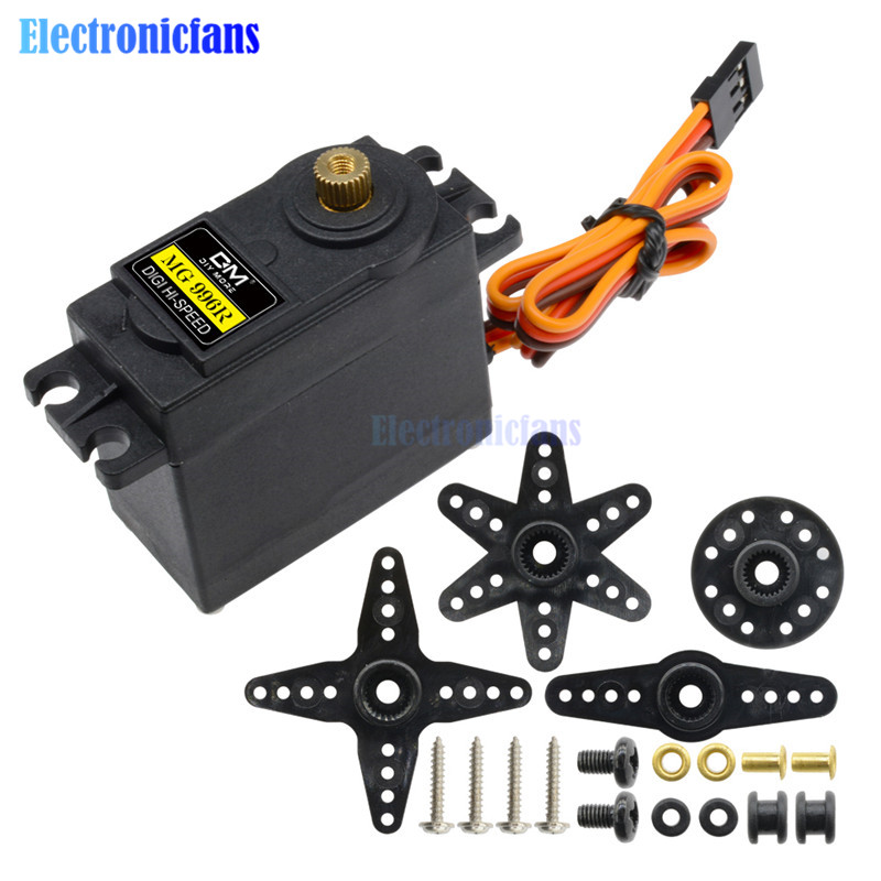 10PCS Servos Digital MG996R MG995 55g Servos Digital Metal Gear RC Car Robot Servo for Car RC Model Helicopter Boat MG995-in Integrated Circuits from Electronic Components & Supplies