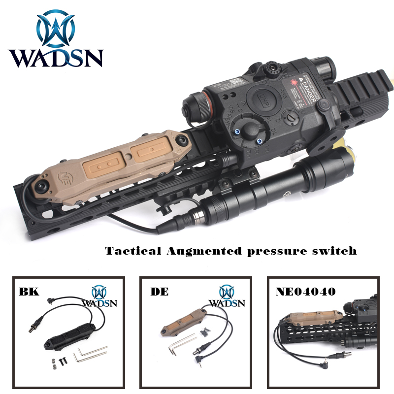 WADSN Airsoft Remote Pressure Switch For Weapon Light Dual Button Hunting Tactical LED Flashlight PEQ M3X Accessories WNE04040