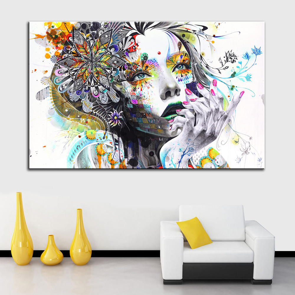 1 Piece Modern Wall Art Gadis Dengan Bunga Dibingkai Kanvas Lukisan Untuk Kamar Tidur Wall Art Dekorasi Rumah Gambar Dinding Lz003 Modern Wall Art Wall Pictureswall Art Aliexpress