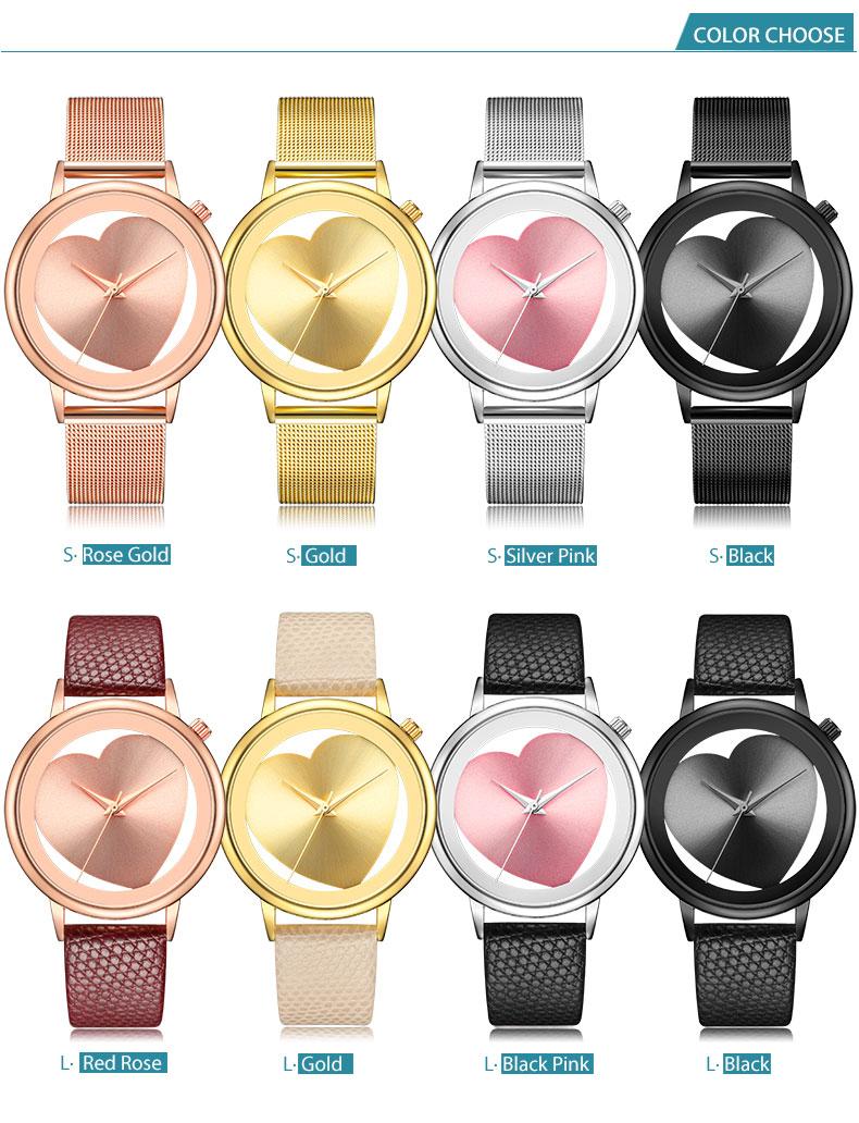 Women Watches Quartz Hollow Analog Stainless Steel Mesh Band Rose Gold Luxury Brand Design Wristwatch Fashion Dress New 7