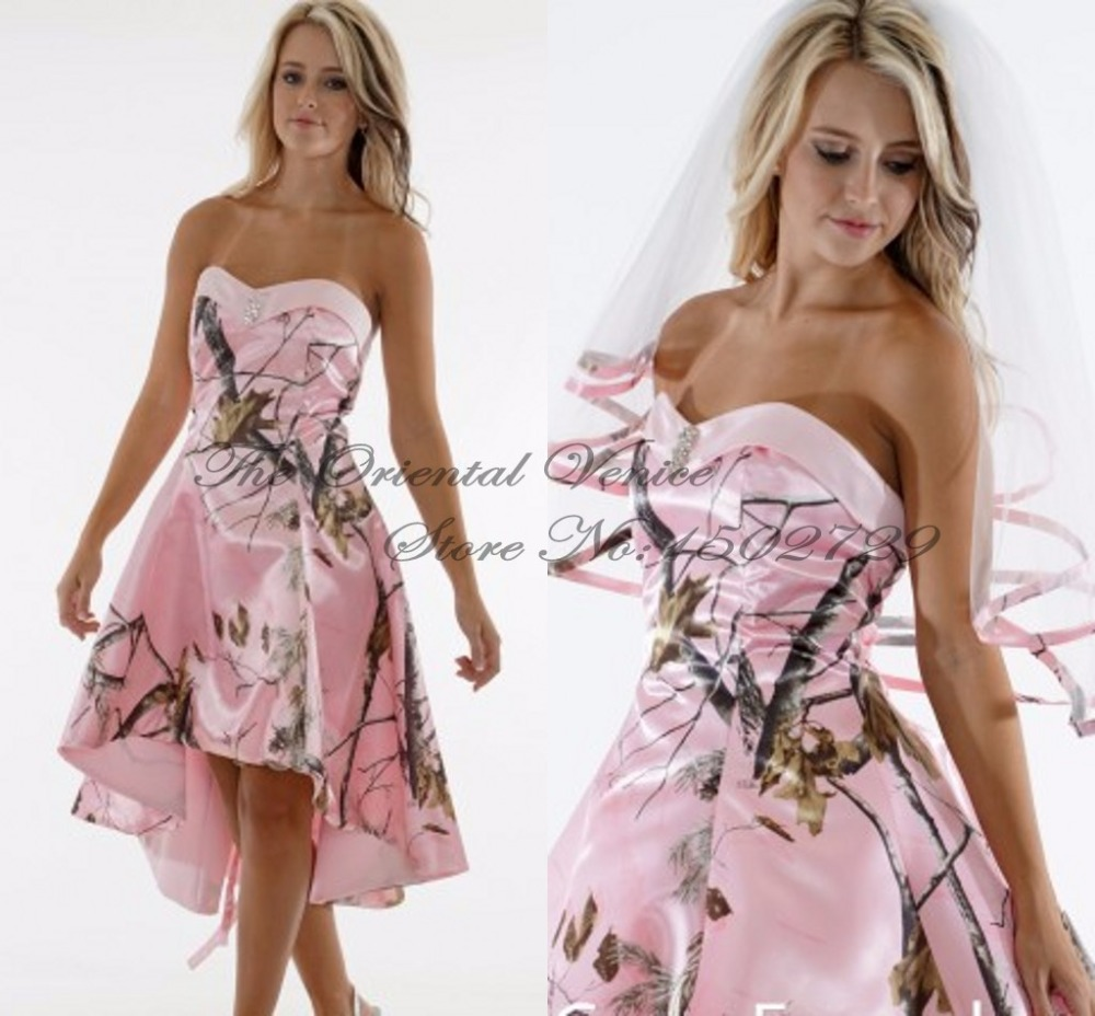 Online get cheap camouflage wedding dress for Red camo wedding dresses