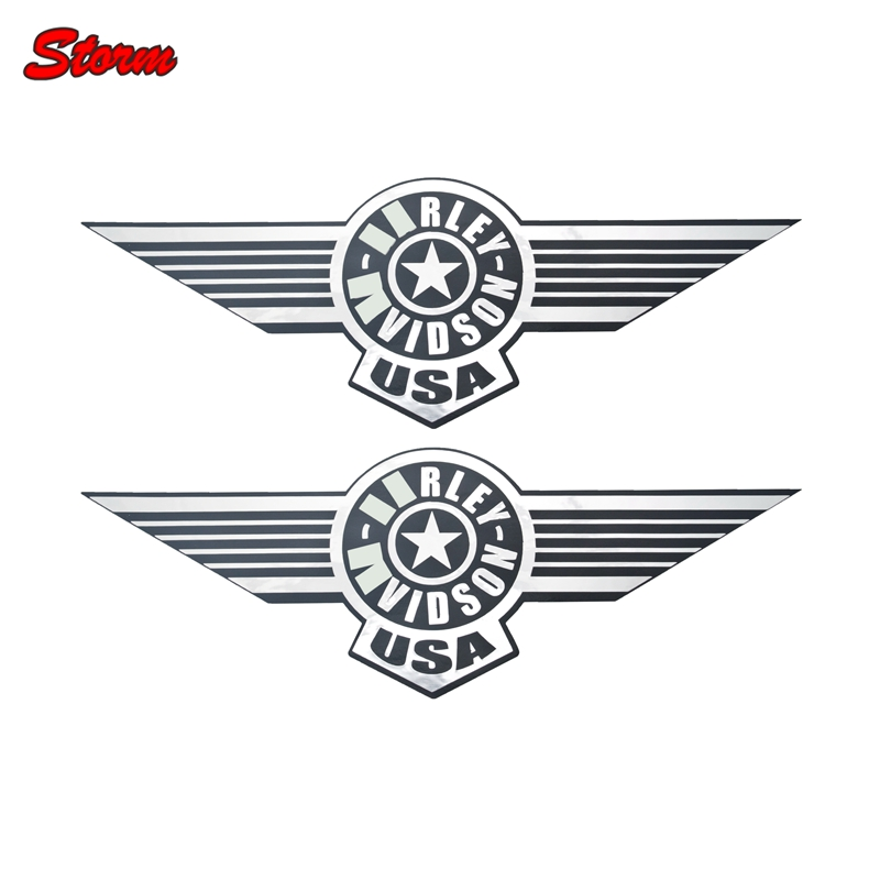 Motorcycle Gas Tank Decals Sticker Wings Decal For Softail
