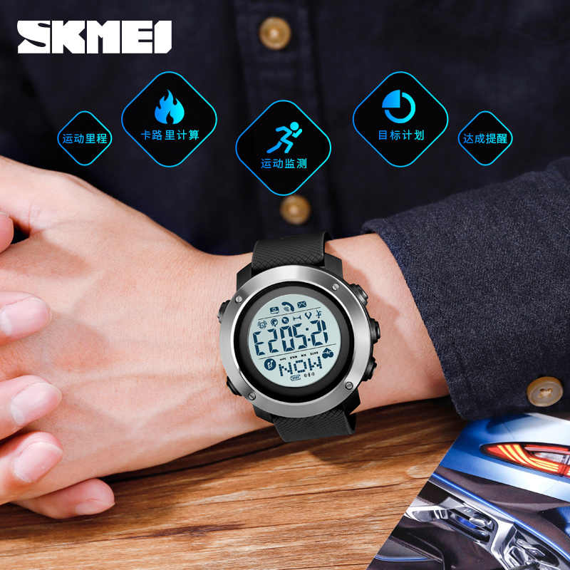 Bluetooth Smart Watch For Android Wear Android OS IOS Smartwatch Men Sport Watch Compass relógio inteligente SKMEI