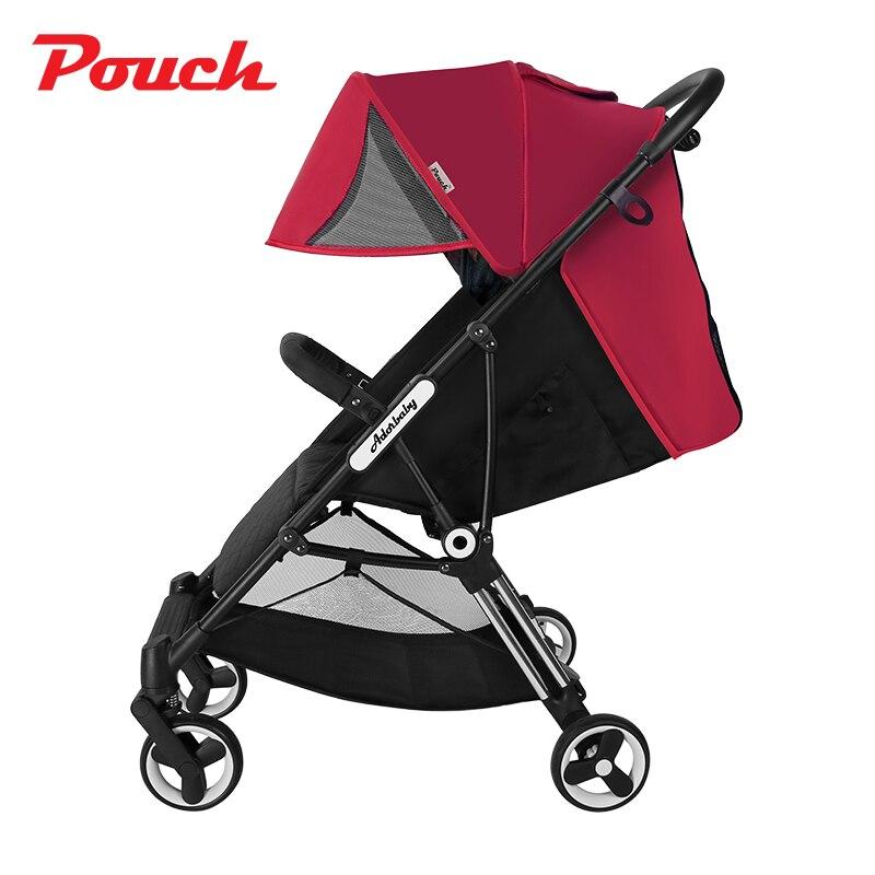 Design Original bébé poussette en alliage d'aluminium poids léger seulement 6.3 kg landau voyageant pour les bébés de 6-36 mois