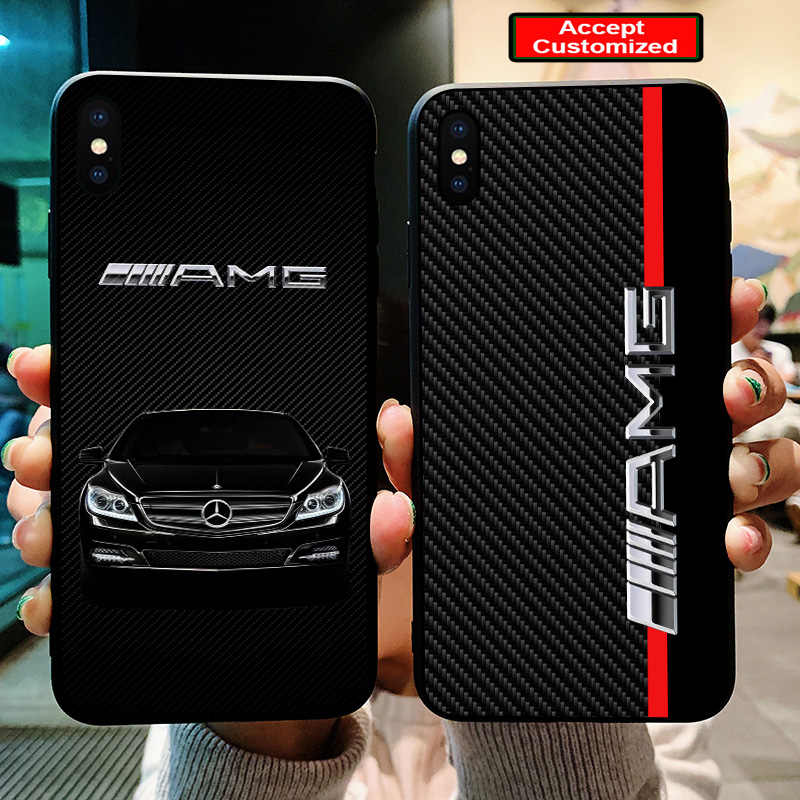 info for 325de cb3ae Case for iPhone 10 X XS Max XR 6 6S 7 8 Plus 5 5S SE For AMG Car Logo Cover  for Samsung Galaxy Note 8 9 S8 S9 Plus S6 S7 Edge
