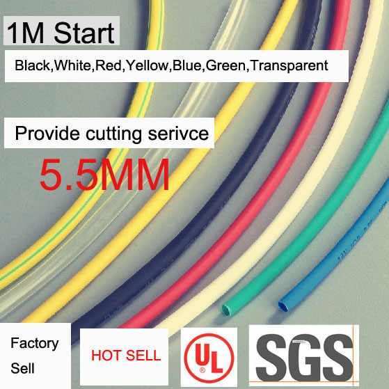 Fábrica de vender dia5.5mm de Dissipadores de Calor Tubos Shrinkable Tubing Isolamento Sleeving 2:1 na cor diferente