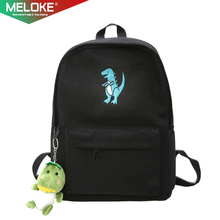 2020 mulheres bordado dinossauro mochila sacos linda borla sacos de escola sacos de viagem para meninas transporte da gota m453