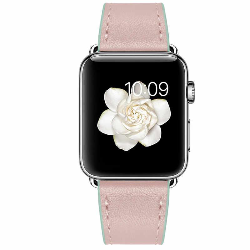 Fascia della cinghia di cuoio Per Apple Osservare 5 44 millimetri 40 millimetri iwatch fascia 38 millimetri 42 millimetri cinturino In Pelle cintura braccialetto di Apple orologio 4 3 21 44 40 38