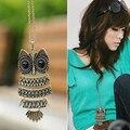 Aliexpress Caliente Venta de Joyería de Moda de La Vendimia de Aves de Bronce Búho Collar de Cadena para las mujeres Al Por Mayor Precio de Fábrica