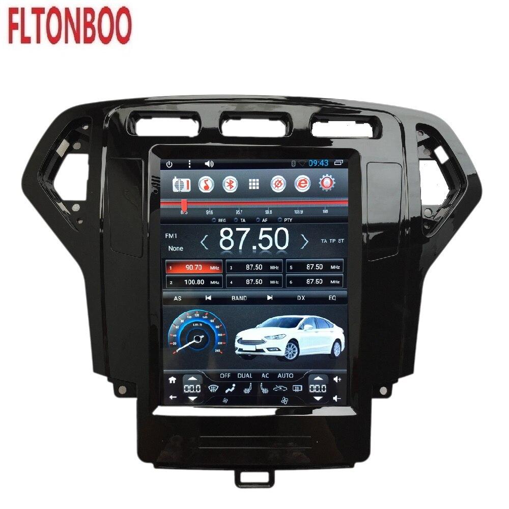 Lecteur d'autoradio 10.4 pouces Gps Navigation Tesla Style pour Ford Mondeo autoradio Android 6.0 2007 2008 2009 2010