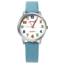 ot01 2017 New Cartoon Children Watch Boy Girl Kids Movement  Leather Sports Quartz Wristwatches Relojes