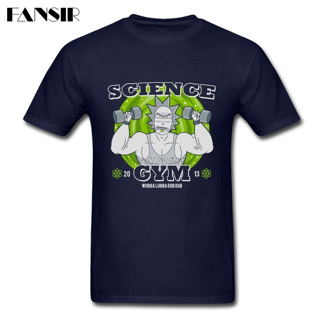 Taille Drôle Grande T Science Gymnases Shirt Hommes Rick Morty Anime rCeWQdxBo