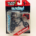 Newest Flick Trix Finger bike BLACK SUNDAY Bmx Diecast Nickel Alloy Stents Professional Finger Bicycle Novelty Mini Toys