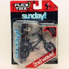 Newest Flick Trix Finger bike BLACK SUNDAY Bmx Diecast Nickel Alloy Stents Professional Finger Bicycle Novelty Mini Toys
