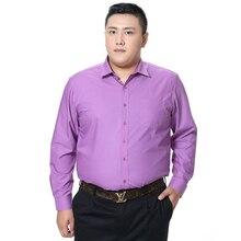 Chemise cintrée à manches longues pour hommes, grande taille, avec poches, couleur unie, 2018 nouveauté