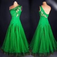 customize custom adult Viennese Ballroom Fox trot Quick step tango Modern galop Waltz diamond competition Dance Dress