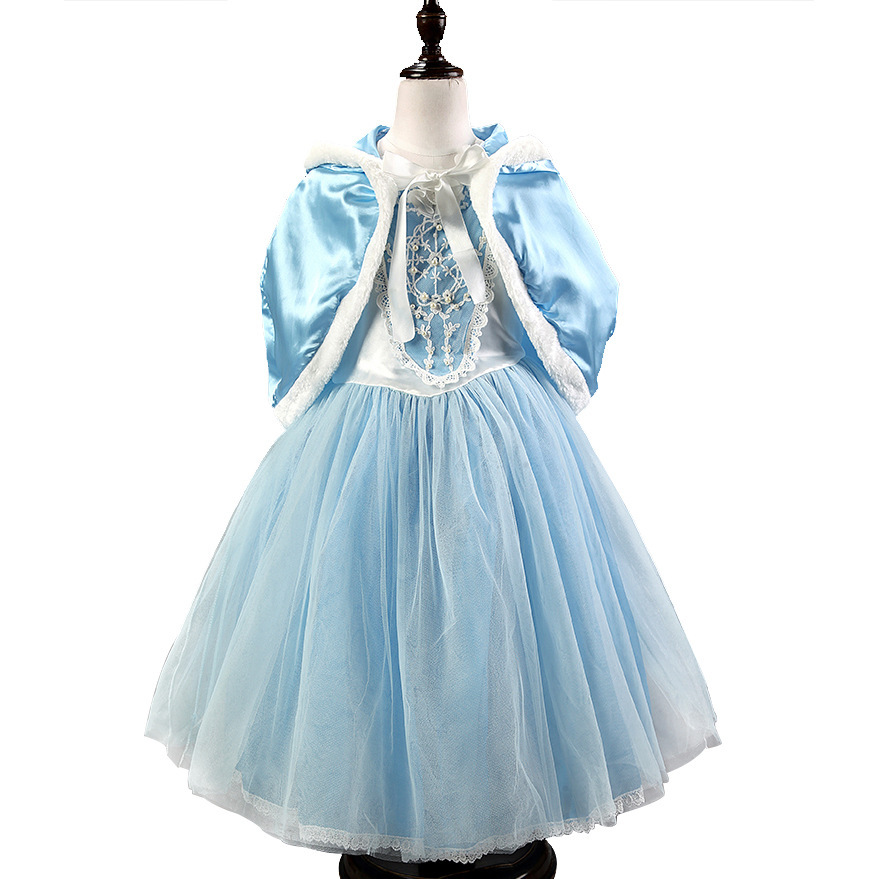 5dfe5f91c2a9a US $19.95 8% OFF|Flower Girls Dresses Children Princess Cinderella Dress  with Cape Poncho and Accessory Set Christmas Party Dresses Kids Clothes-in  ...