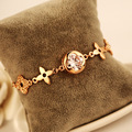 Designer gold plated bracelet bracelet jewelry fashion flowers style bangle wedding jewellery for women brt011