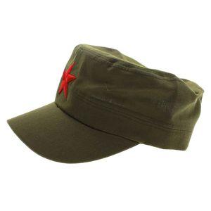 Новинка, 1 шт., хлопковая ткань, регулируемая, повседневная, китайская, зеленая, плоская шляпа, красная звезда, унисекс, ретро, китайский патру...
