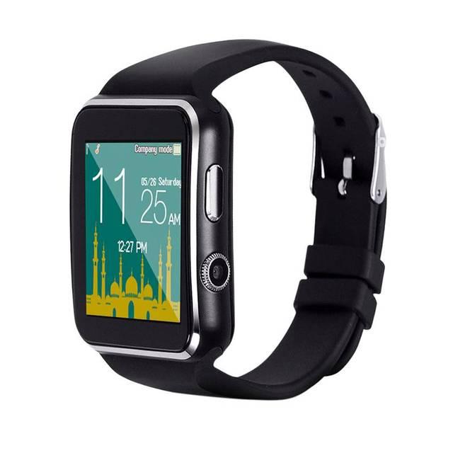 Câmera do Relógio inteligente M6 Muçulmano o Tempo Lembrando Lbs Local de Peregrinação Smartwatch relógio de Pulso Suporte Sim Card Tf
