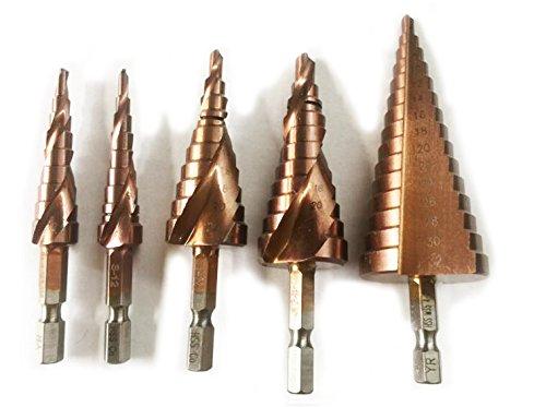 Mèches de forage industrielles rainurées en spirale Cobalt M35 4-32mm, 6-24mm, 4-22mm, 3-12mm, 4-12mm