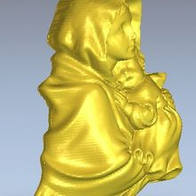 3d model relief  for cnc in STL file format Madonna_1