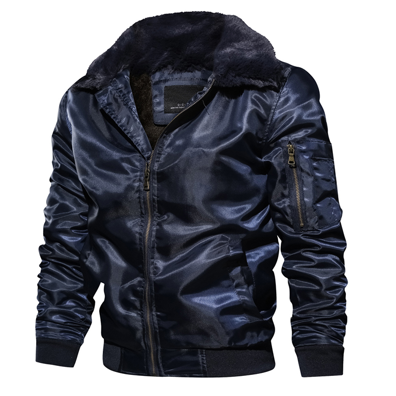 TACVASEN Men Bomber Jacket Winter Parkas Army Military Motorcycle Jacket Men's Casual Pilot Jacket Coat Cargo Outerwear EUR Size