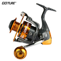 Goture 2015 Long Casting Fishing Reel 12BB 1RB Metal Spinning Reels For Trolling Saltwater Surf Fishing