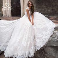 Fashion Sweetheart Wedding Dress 2019 Swanskirt Off the Shoulder Appliques A-Line Princess Bride Gown vestido de noiva LZ05