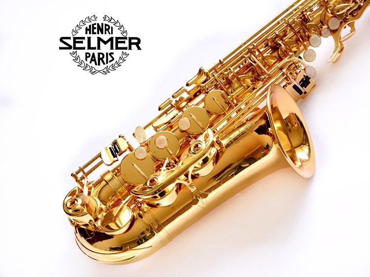 Alto Saxophone Francia Selmer 54 sax Alto / E-flat instrumento musical Electroforesis  Gold profesional Oro Libre alto alto ts212