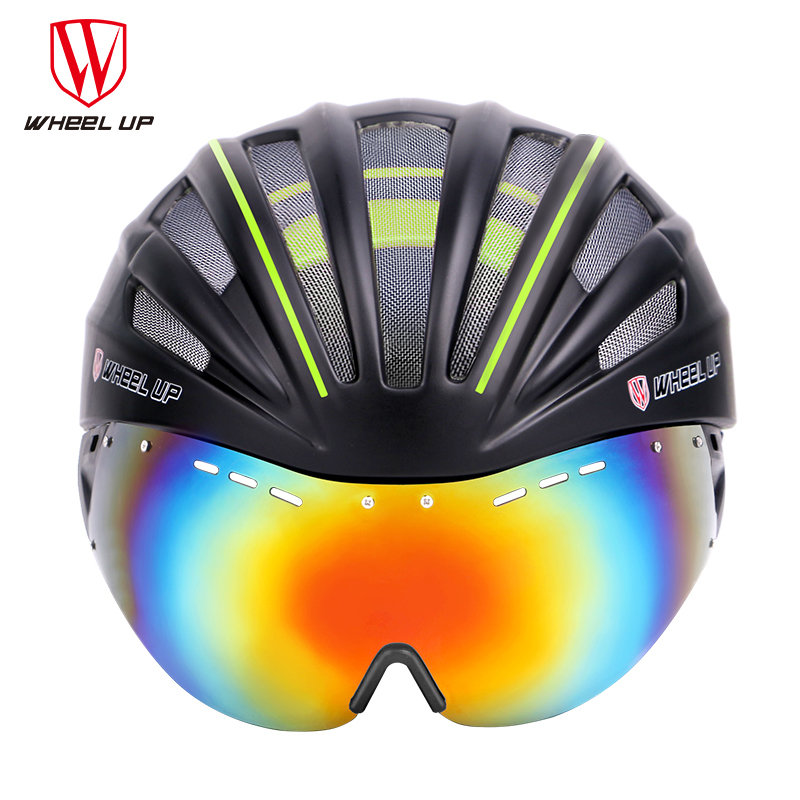 WHEEL UP New a Bike Accessories Integrally Aerodynamic Road Cycling EPS MTB Helmet Mountain Bike Helmet MTB Bicycle Helmet Lens
