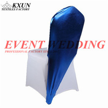 1pcs Bronzing Coated Half Stretch Chair Cap Hood Bands For Lycra Spandex Chair Cover Wedding Event Decoration