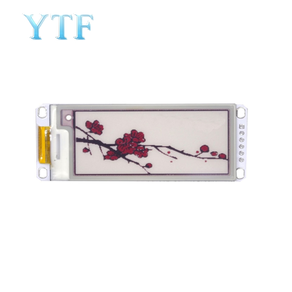 2.13 Inch E-Paper Module E-Ink Display Screen Module Black Red White Color SPI Supports Partial Refresh