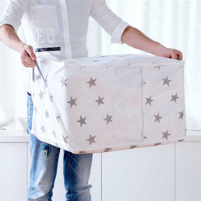 Car-styling Foldable Storage Bag Clothes Blanket Quilt Closet Sweater Organizer Box Pouches Car Stowing Tidying