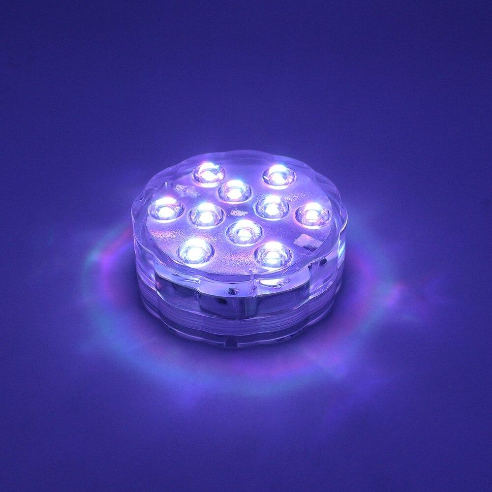 4 pc lâmpada subaquática ip68 à prova dip68 água multi cor operado a pilhas de controle remoto sem fio 10 led luzes para banheira de hidromassagem