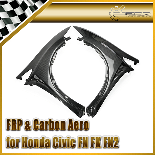 Car styling Carbon Fiber Mugen Style Vented Front Fender Fit For Honda Civic 06 11 FN