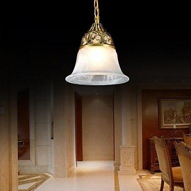 Bronzo Europeo Vintage Classic LED Lampade A Sospensione Lampada Con 1 Luce Per Soggiorno Lustro Pendente Spedizione Gratuita