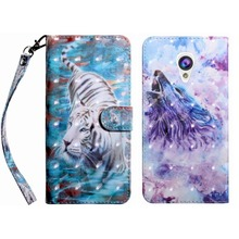 Card Slot Frame Tiger Wolf Cases For Alcatel 1X 5059D 3C 5026D Pixi 4 U5 3G 4047D 4G 5044D Leather Cover Pattern Embossing P29Z цена и фото
