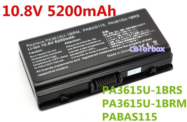 5200 mah batería para toshiba pa3615u-1brm pa3615u-1brs pabas115 para l40-14i equium l40 satellite l40 l45 l40-17s l40-159 l40-19c