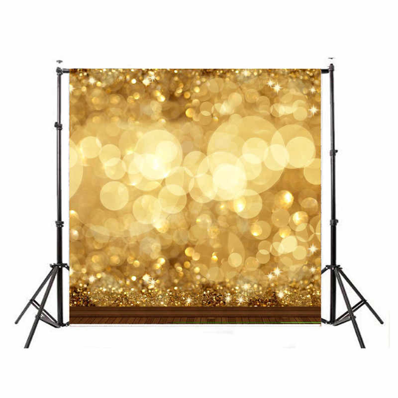 10x10FT Fantasy Glitter Moda Amarelo Brilhante Bonito Âncora Fotografia Vinil Pano de Fundo Estúdio Fundo Da Foto Do Bebê Adereços 3x3 m