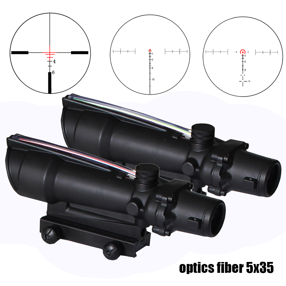 SPINA OPTICS ACOG 5x35 Tactical Riflescope BDC Chevron Horseshoe Ballistic Reticle Red Green Illuminated Scope for cal .223 .308SPINA OPTICS ACOG 5x35 Tactical Riflescope BDC Chevron Horseshoe Ballistic Reticle Red Green Illuminated Scope for cal .223 .308