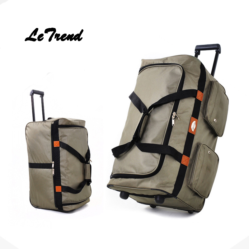 Letrend 32 Inch High-capacity Study Abroad Rolling Luggage Wheels Suitcase Handle Travel Bag Checked Luggage Trolley Men Trunk