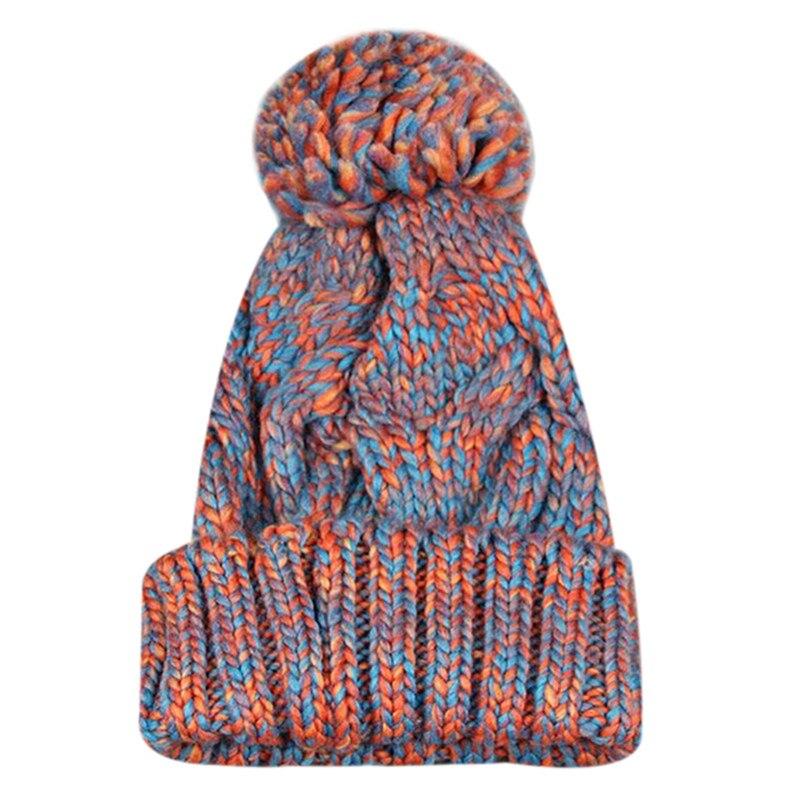 2017 Women Winter Hats Wool Knitted Fur pompom hat Lady Girls Beanies Cap Fur pom poms warm winter hat for women bonnet femme орбитальная эксцентриковая шлифмашина metabo sxe 425 turbotec 600131000