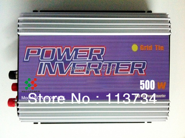 GTI 500W Wind Turbine on Grid Tie Inverter with dump load dc ac 12v 24v to ac 110/220v, for wind turbine power system